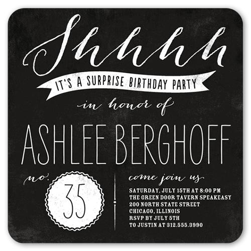Big Surprise Adult Birthday Invitation Shutterfly