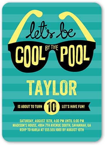 cool by the pool 5x7 boys birthday party invitations shutterfly