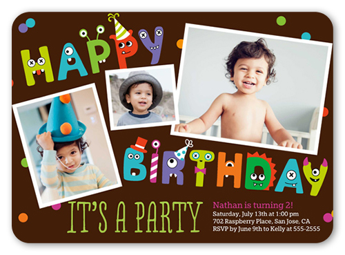 boy birthday invitation card design