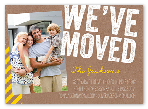 Weve Moved Stamp 5x7 Moving Announcements Shutterfly