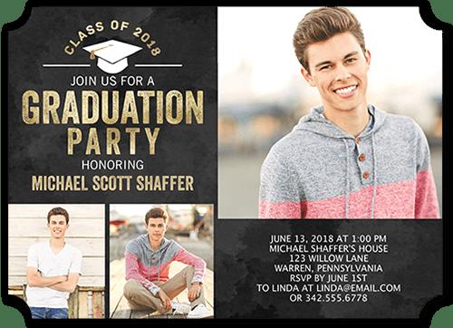 Radiant Party 5x7 Graduation Party Invitation Shutterfly