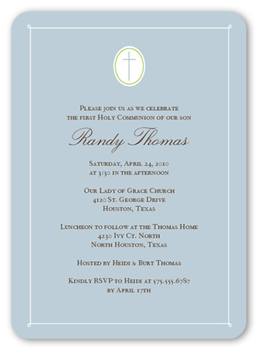 communion cross powder communion invitation shutterfly