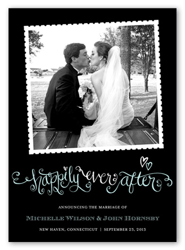 Happily Ever After 5x7 Wedding Announcement Cards Shutterfly