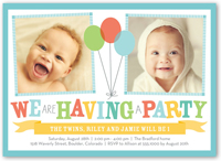 twin birthday invitations custom twin