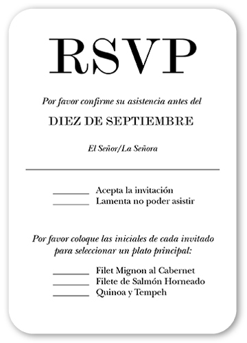 Amor A Gritos RSVP Card By Yours Truly Shutterfly