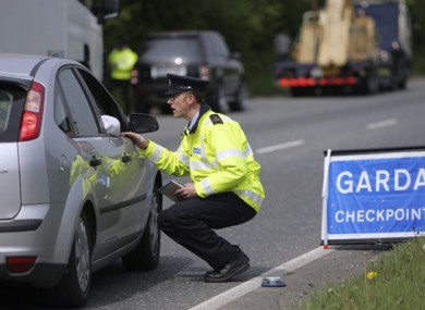 Image result for Garda checkpoint