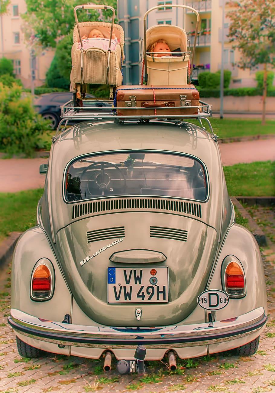 hd wallpaper gray volkswagen beetle