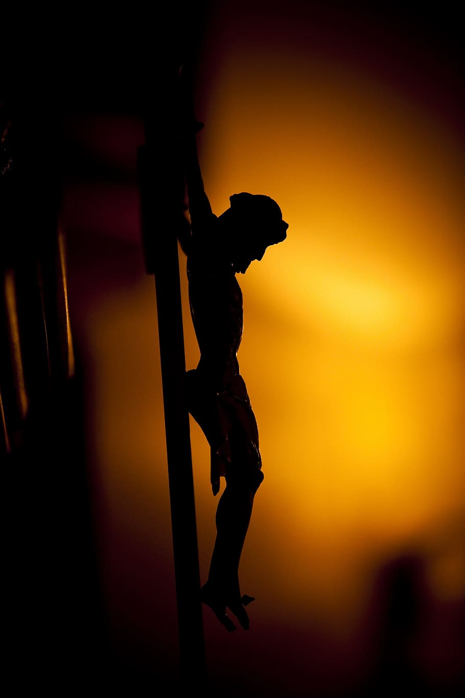 Hd Wallpaper Silhouette Photo Of Crucifix Jesus Christ Christ Figure Cross Wallpaper Flare
