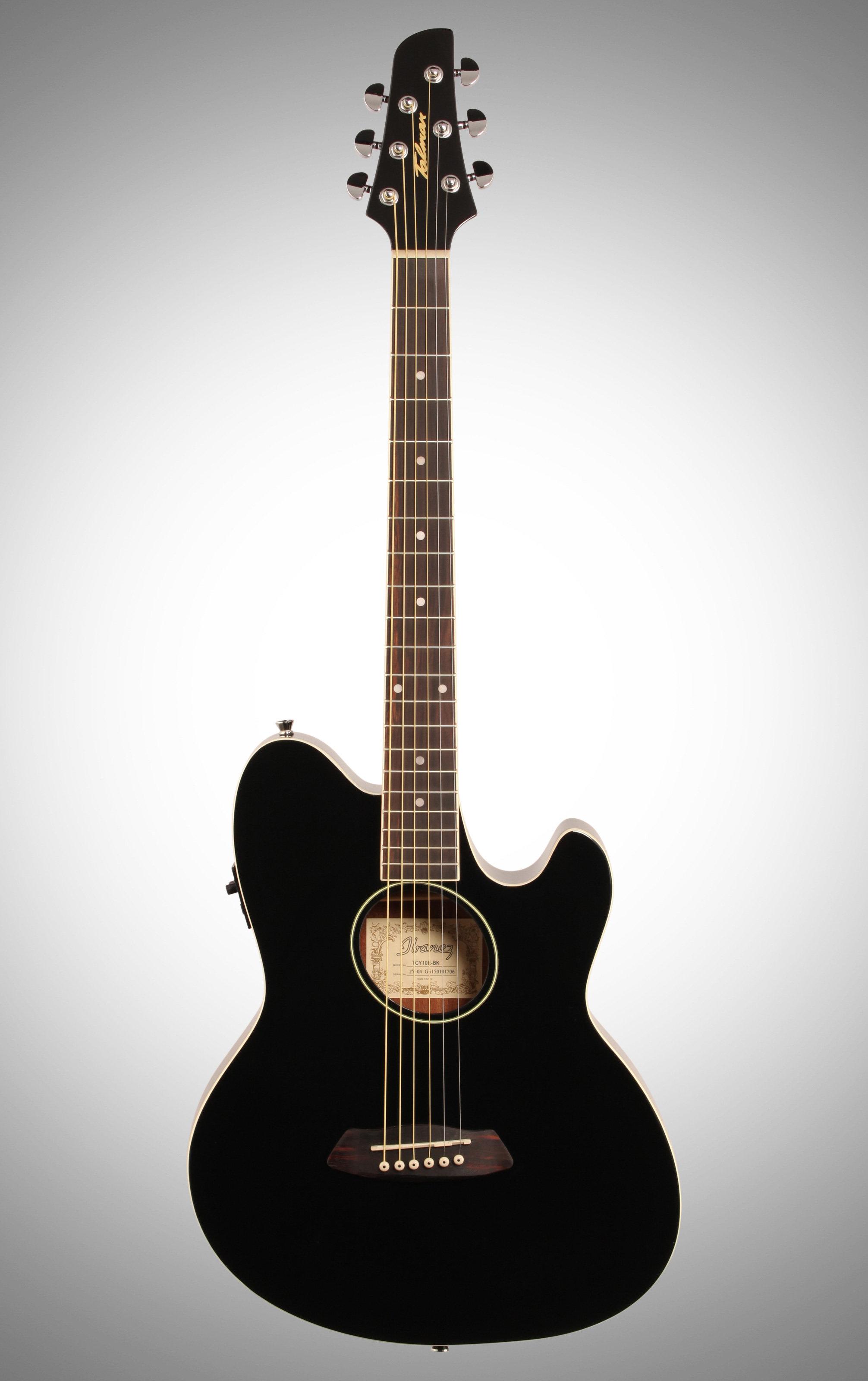 Ibanez Tcy10e Talman Cutaway Acoustic Electric Guitar Black