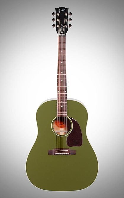 Gibson Limited Edition 2018 J 45 Olive Green Acoustic Electric Guitar With Case New