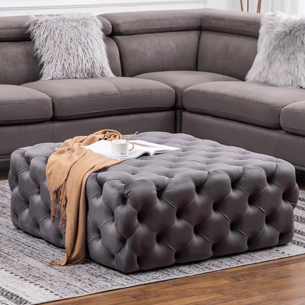 50 70cm velvet ottoman footstool