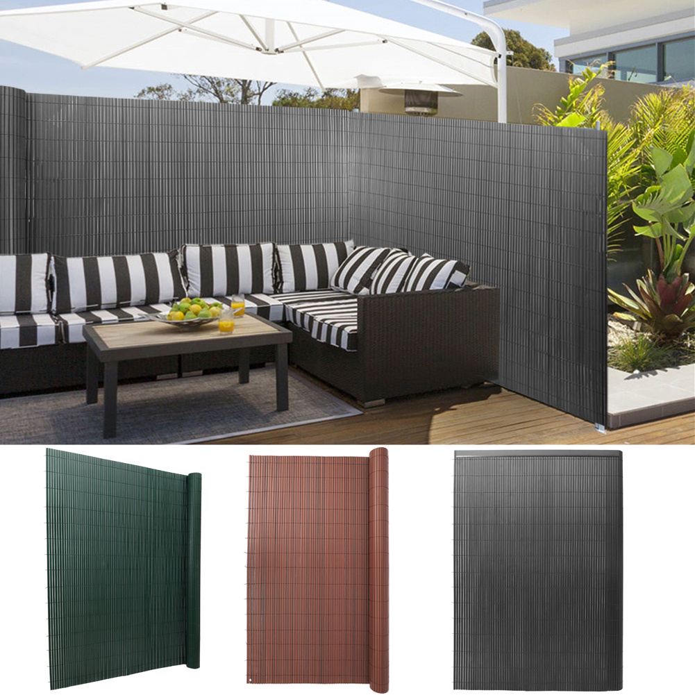 privacy fence pvc bamboo screening