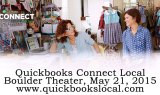 Quickbooks Connect Boulder, May 21st 2015