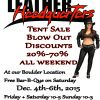 Leather Headquarters Big Tent Sale - Dec. 4th - 6th