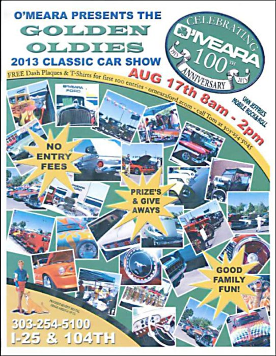 O'Meara Ford's Golden Oldies Classic Car Show 2013