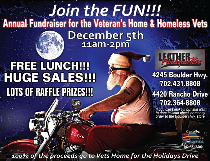 Leather Headquarters Annual Fundraiser for Veteran's Home and Homeless Vets