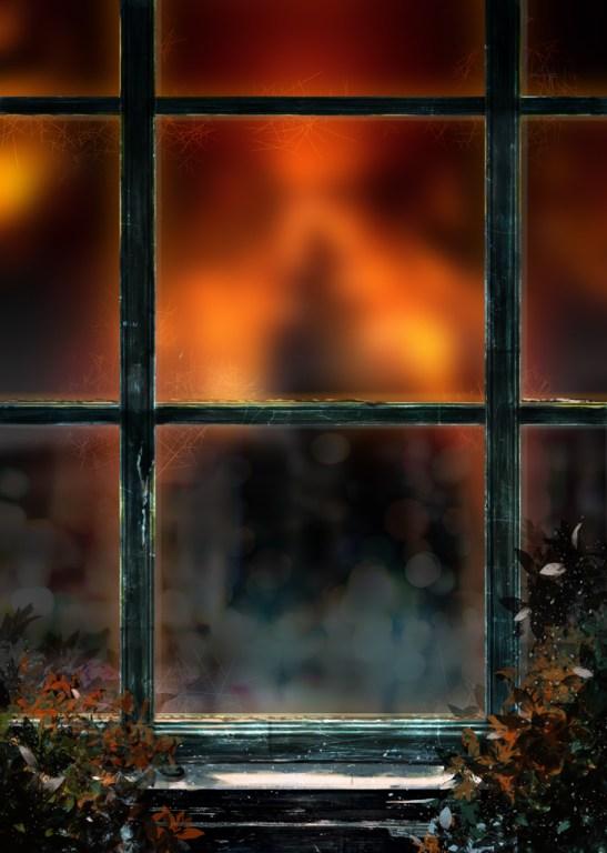 窓枠と背景