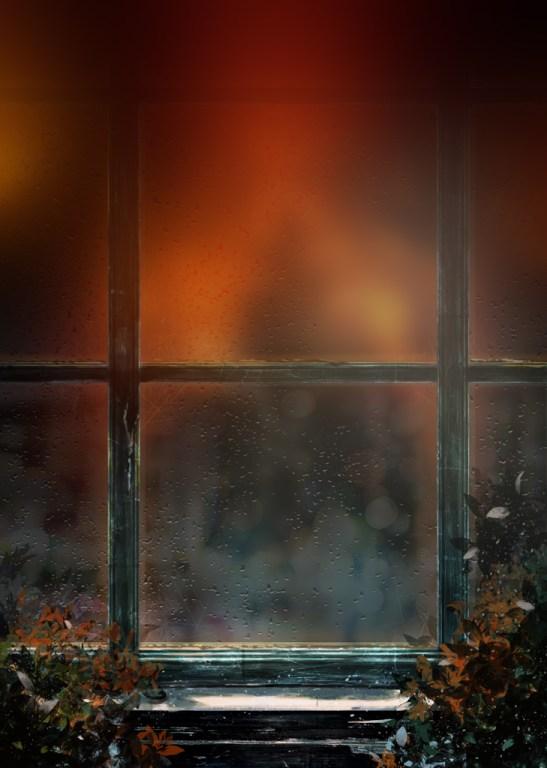 窓への映り込みに向けて、光の影響を調整した状態