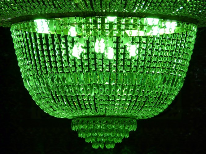 Green Crystal Dome Chandelier
