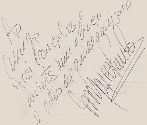 Autografo Marco Paulo