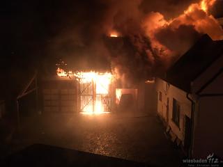 Scheunenbrand Niedernhausen 13.12.16