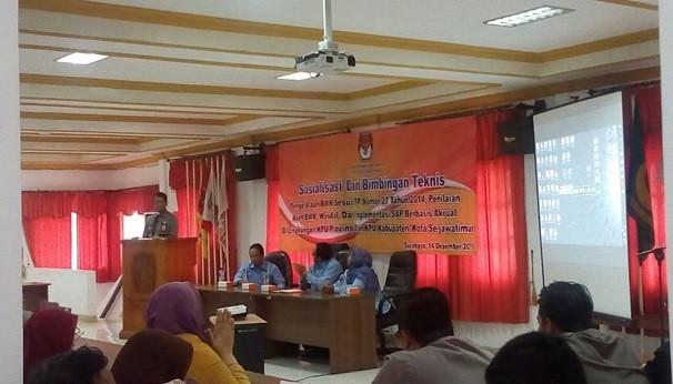 Suasana Sosialisasi dan Bimtek Pengelolaan BMN (14/12)