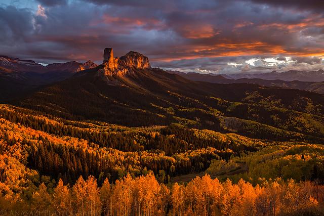 Courthouse Mountain Sunset