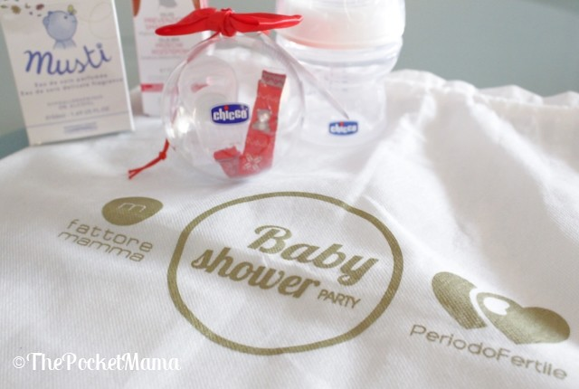 baby shower party - omaggi chicco e muster