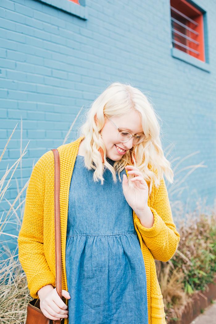 austin style blogger asos smock dress yellow sweater11