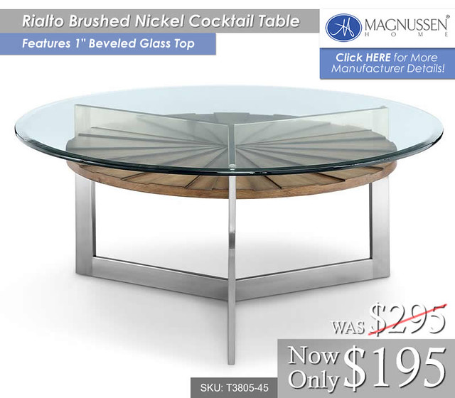 Rialto Glass Cocktail Table T3805-45