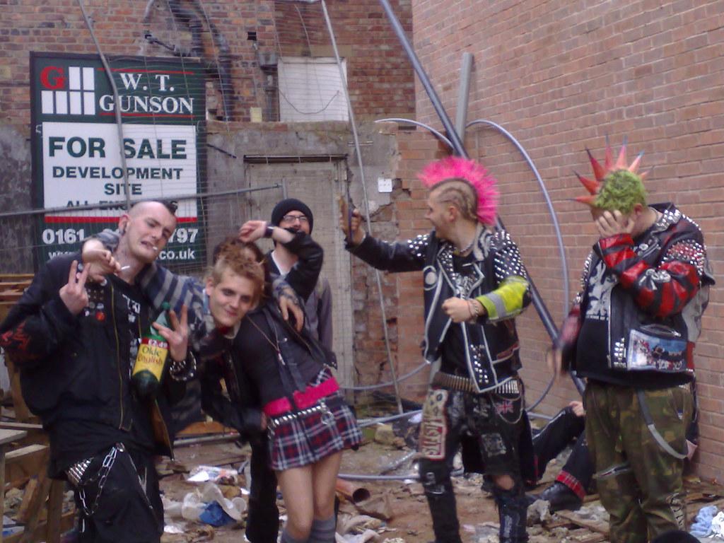 Punks A Random Group Of Punks On Tib Street Manchester