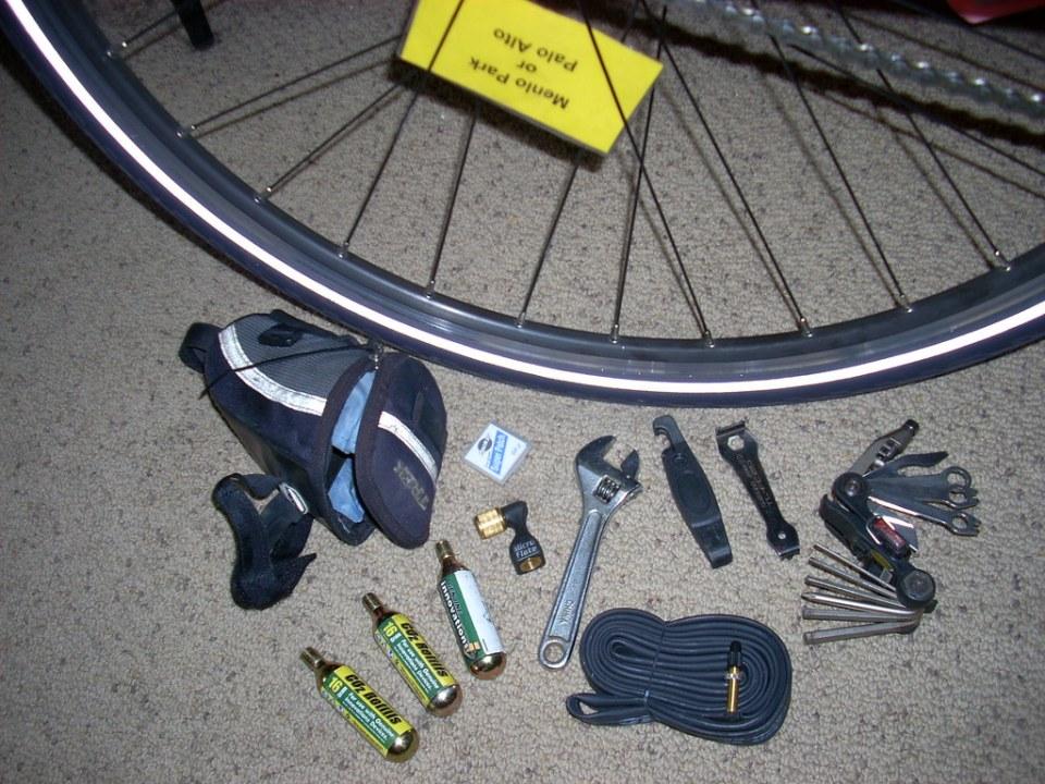 standard bike touring repair kit