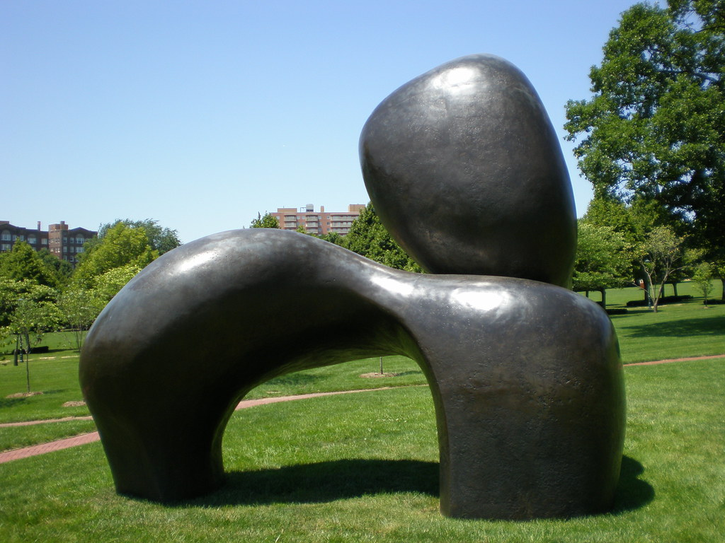 Henry Moore Sheep Piece Nelson Atkins Museum