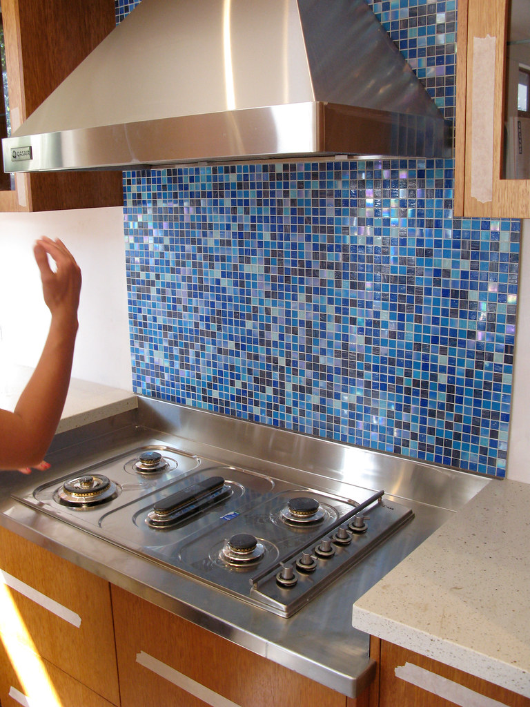 Kinds Of Blue Splashback Tiles Multi Hued Blue Glass