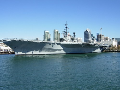 aircraft carrier in san diego ca