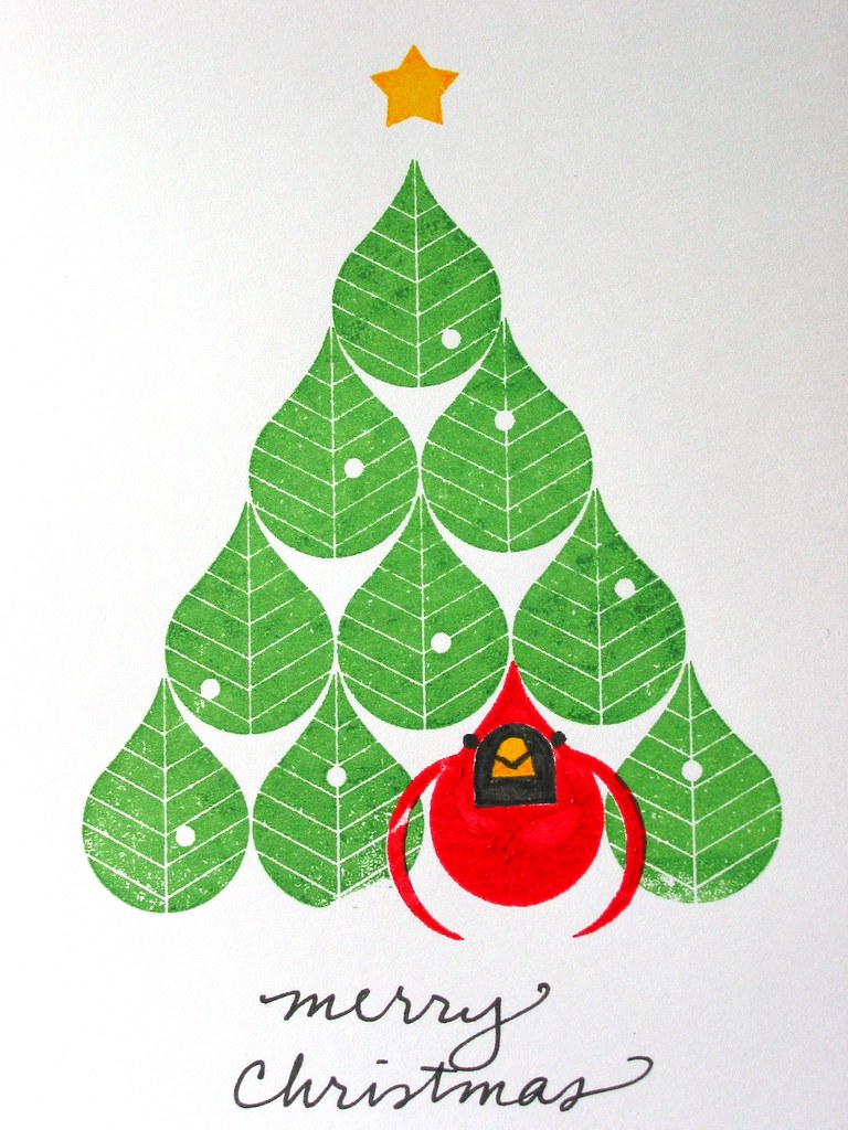 Christmas Card Design 07 My First Attempt At Gocco