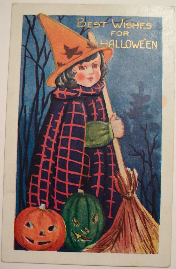 Vintage Halloween Postcard Whitney Postcard Dave Flickr