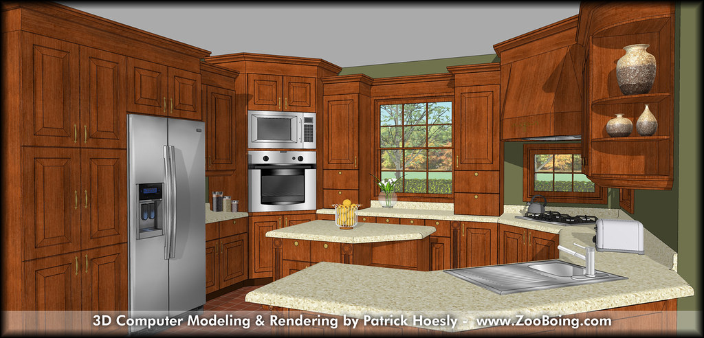 Kitchen 3d Rendering Software