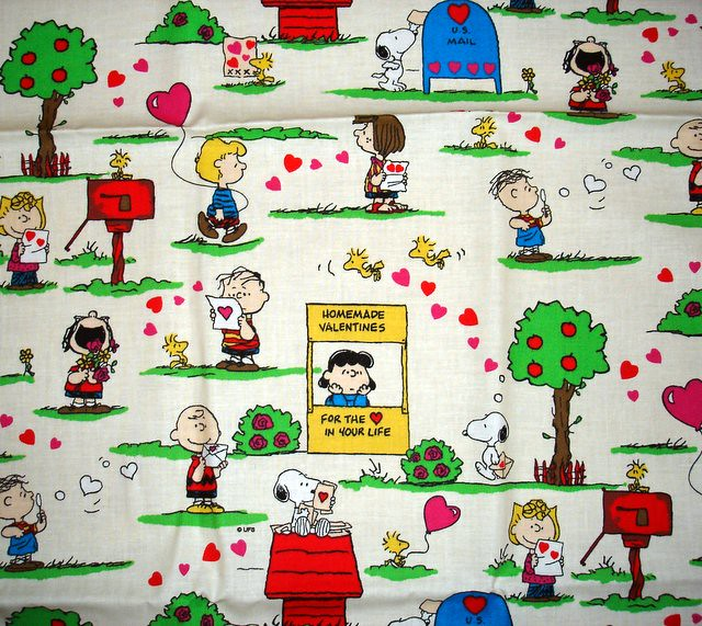 Valentines Day Snoopy Fabric From Yard Sale Not Sure