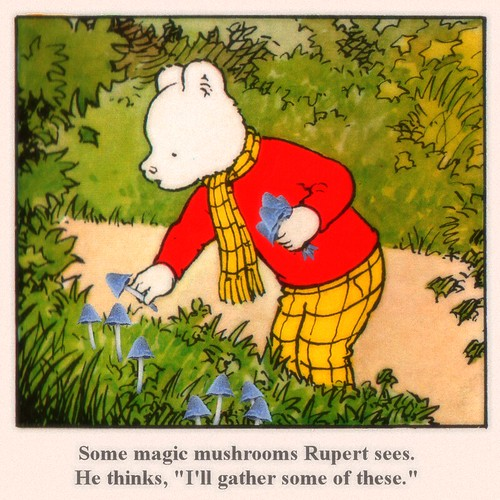 Mushroom Rupert Bear For Clackamore And The Weekly