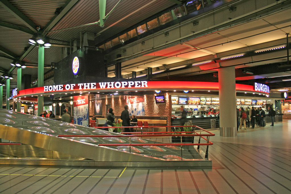 Burger King Schiphol Airport Plaza Netherlands Burger