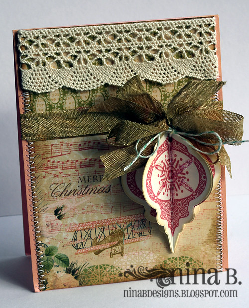 Heirloom Card 3 Stamps Heirloom Ornaments By Gina K