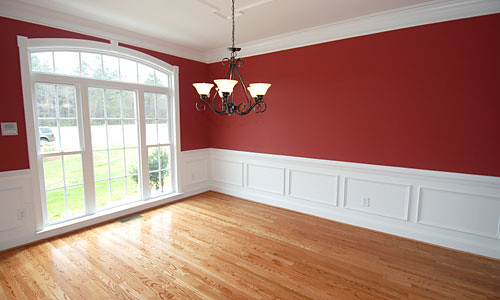 red dining room paint  photo    dining room