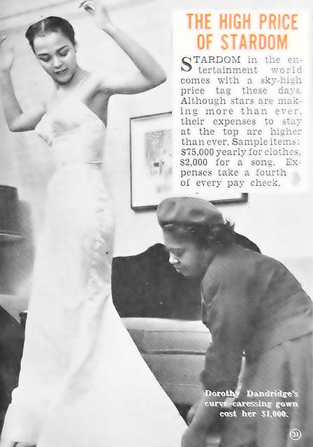 Dorothy Dandridge At A Dress Fitting Hue Magazine Octobe