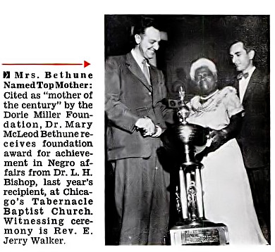 Dr Mary Mcleod Bethune Named Mother Of The Century
