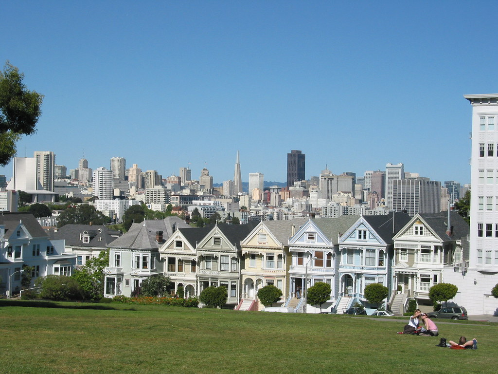 San Francisco Skyline Looking From The Pacific Heights S Flickr