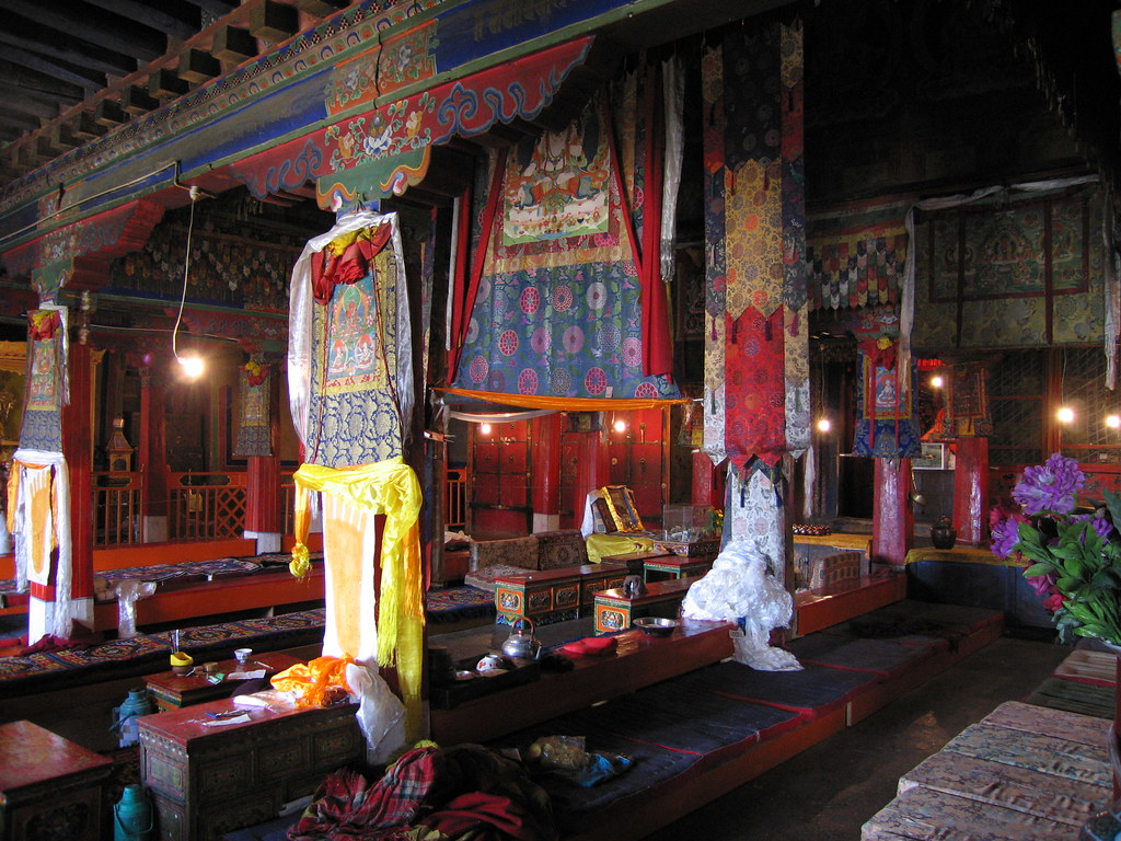 Drepung Monastery Interior Lhasa Tibet This Is One Of