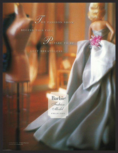 One of the first print advertisements for the BFMC, featuring a glimpse of my all time favorite Barbies, Delphine.