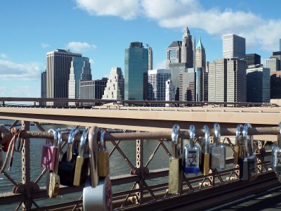 Love Locks on Brooklyn Bridge, New York - the tea break project solo female travel blog