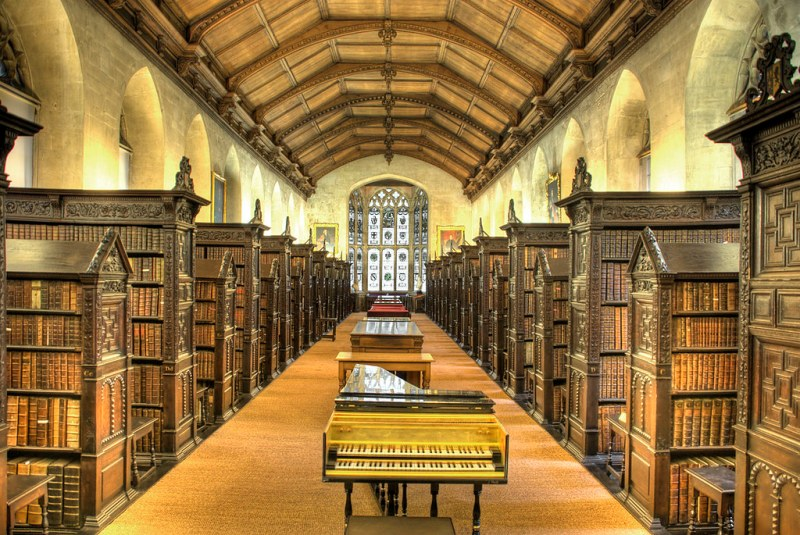 The interior of St John's College, Cambridge, England. Image credit CharlieRCD.
